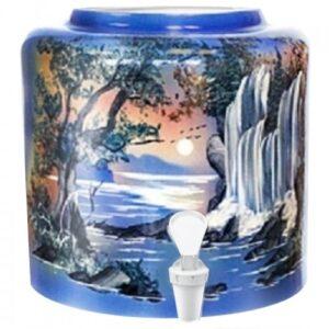 Диспенсер керамический ECO «Водопад» синий