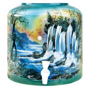 Диспенсер керамический ECO «Водопад» зелёный