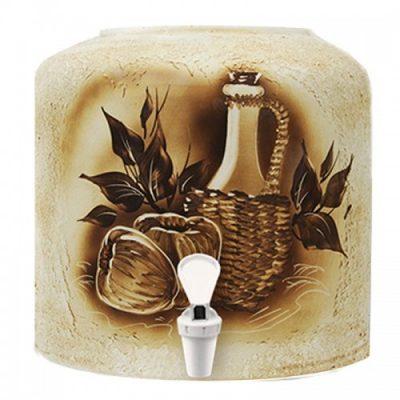 Диспенсер керамический ECO «Яблоки» шамот